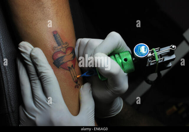 Tattoo Maker Image - Stock Image
