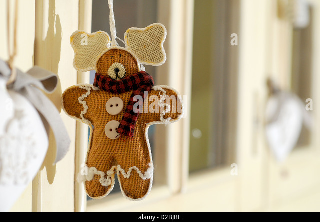 Gingerbread ornament - Stock Image