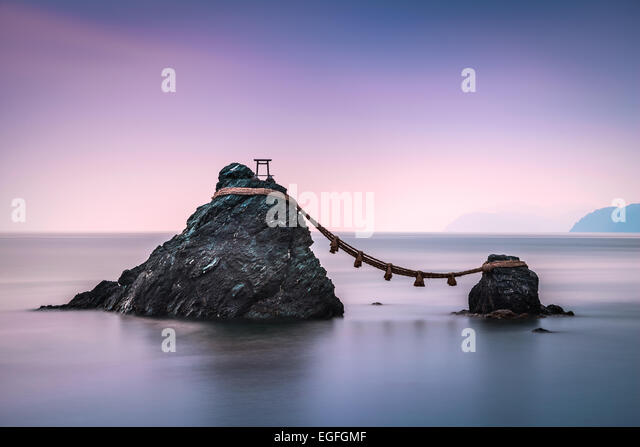 Ise, Japan at the Wedded Rocks of Futami. - Stock Image