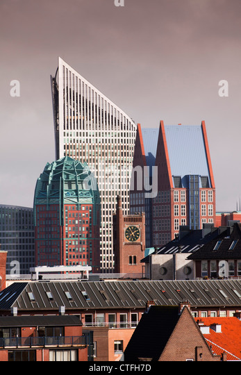The Netherlands, Den Haag, The Hague, View of modern architecture in Den Haag. Mainly ministries. - Stock Image