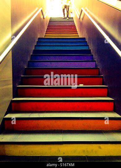 Rainbow staircase - Stock-Bilder