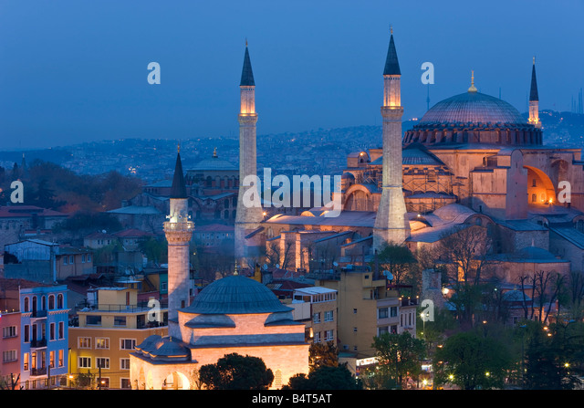 Aya Sofya (Hagia Sophia) Sultanahmet, UNESCO World Heritage site, Istanbul, Turkey - Stock Image