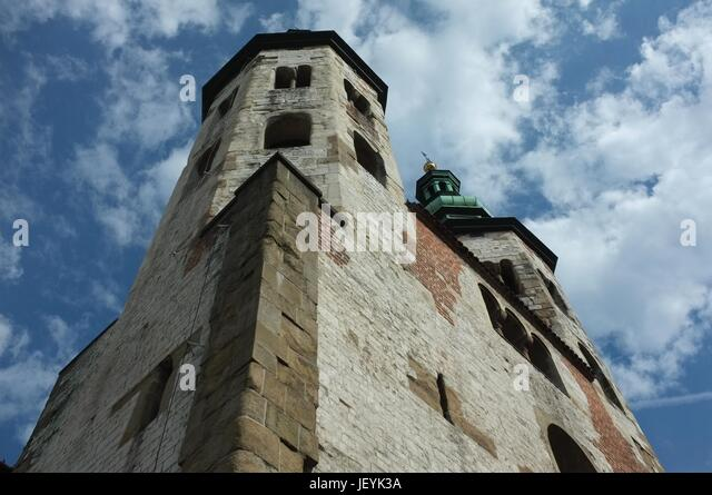 St Andrew's Church in the Old Town, Krakow, Poland, Central/Eastern Europe, June 2017. - Stock Image
