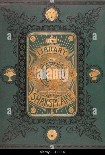 Cover from The Illustrated Library Shakspeare, published 1890. - Stock Image