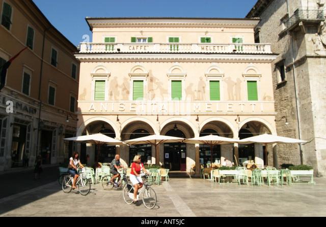 Caffe Melitti,Ascoli Piceno Le Marche Italy - Stock Image