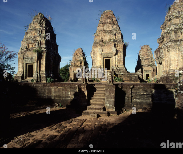 East Mebon, dating from the middle of the 10th century, Angkor, UNESCO World Heritage Site, Cambodia, Indochina - Stock-Bilder