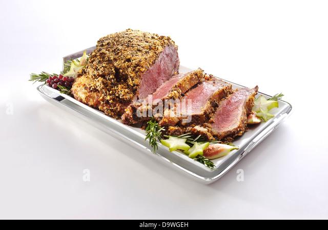 prime rib - Stock Image
