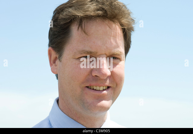 Deputy Prime Minister and leader of the Liberal Democrat party, Nick Clegg MP - Stock Image
