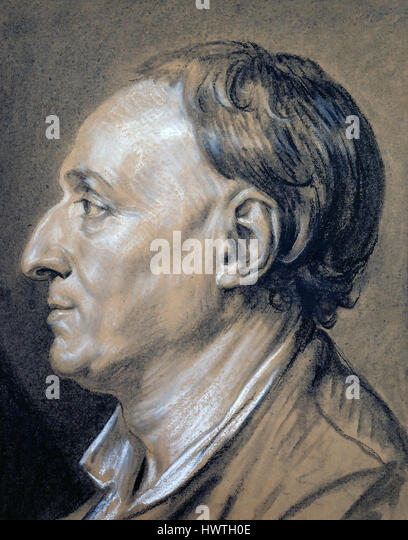 DENIS DIDEROT (1713-1784) French philosopher in 1766 from a drawing by Jean-Baptiste Greuze - Stock-Bilder