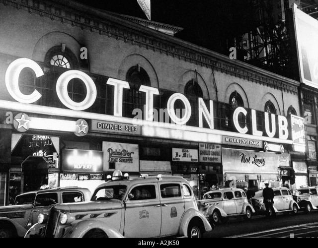 COTTON CLUB in Harlem New York in 1930s - Stock Image