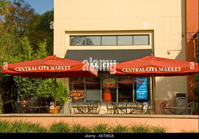 Orlando Florida  Thornton Park  Central City Market - Stock Image