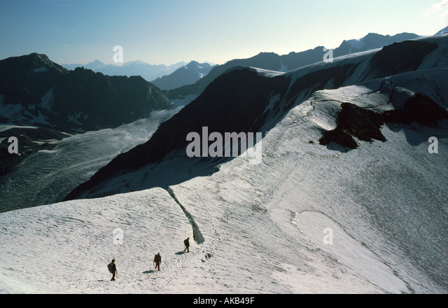 The Taschach Hoch Joch, Petersenspitze, Ötztal Alps, Austria - Stock Image