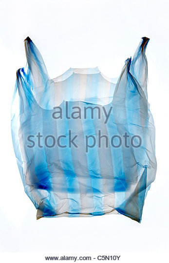 double layered thin plastic grocery bag - Stock Image