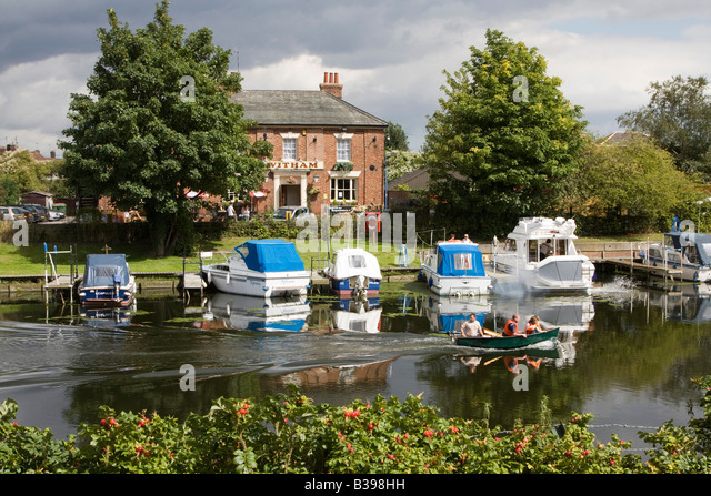 River Witham boston lincolnshire england uk gb - Stock Image