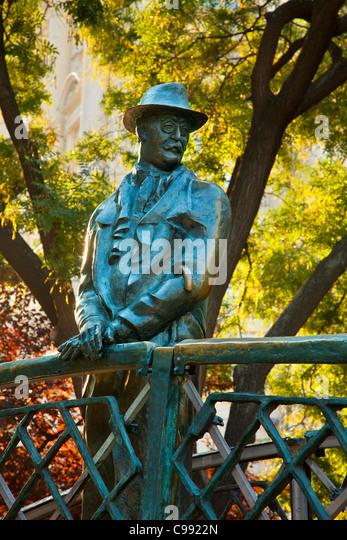 Budapest, The statue of Imre Nagy, Prime Minister of Hungary - Stock Image
