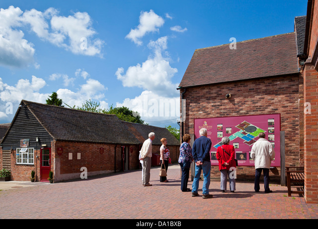 Visitors at the Bosworth Battlefield Heritage Centre Leicestershire East Midlands England UK GB EU Europe - Stock Image