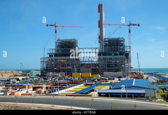 BINH THUAN, VIET NAM- FEB 1,2016: Vinh Tan thermal power plant build at Tuy Phong, Binh Thuan, energy project for - Stock Image
