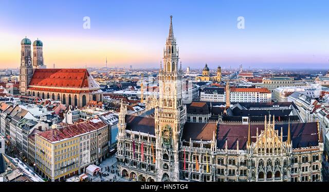 Panorama view of Munich city center - Stock-Bilder