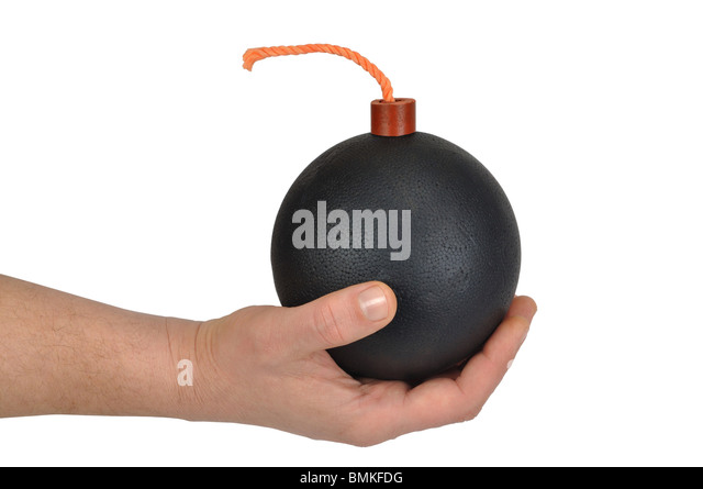 Hand with Bomb - Stock Image