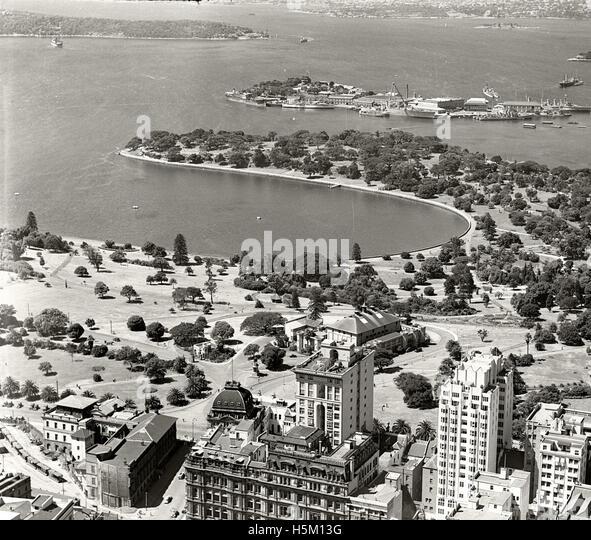 Farm Cove & Garden Island - c1937 - Stock Image