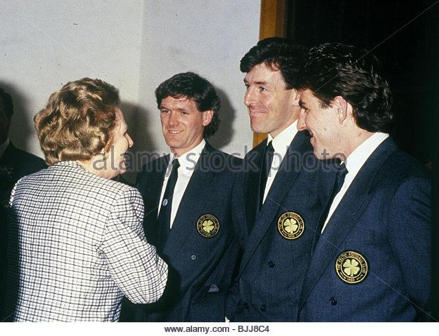 14/05/88 SCOTTISH CUP FINAL CELTIC V DUNDEE UNITED (2-1) HAMPDEN PARK - GLASGOW Prime Minister Margaret Thatcher - Stock Image