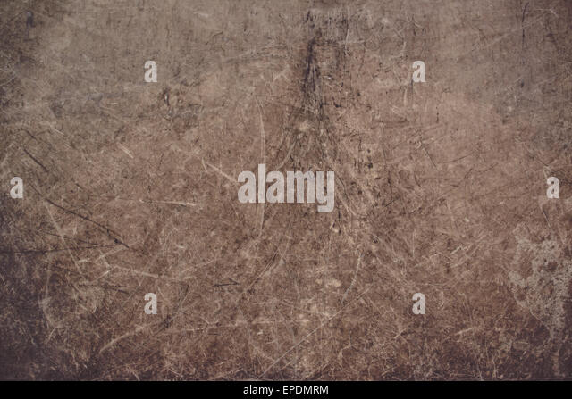 Grunge Obsolete Scratched Texture Background with Retro Brown Tone. - Stock Image