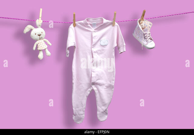 Baby Clothes Washing Line Stock s & Baby Clothes