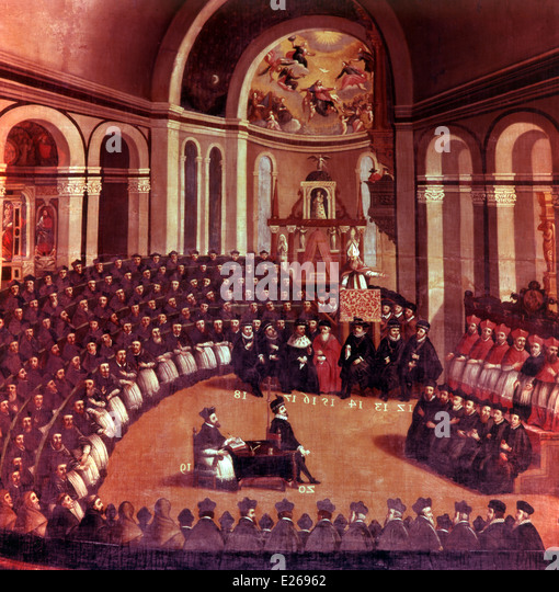Council of Trent,Ecumenical Council - Stock Image