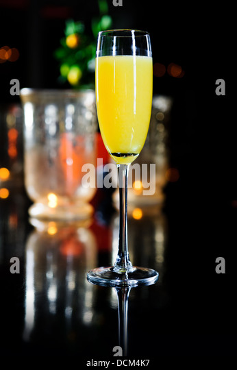 Yellow cocktail - Stock Image