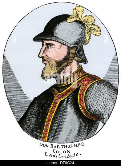 Bartolome Columbus. - Stock-Bilder