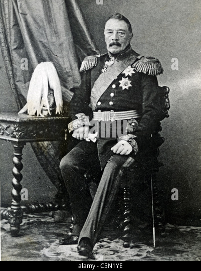 Prince MIKHAIL DMITRIEVICH GORCHAKOV (1792-1861) commanded Russian forces in the latter stages of the Crimean War - Stock Image