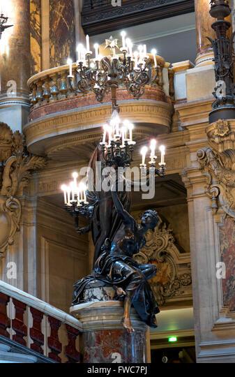 Statue at the Opéra National de Paris Garnier, Paris, France. - Stock Image