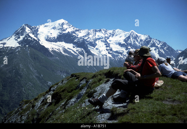 Mont Pourri in the French Alps, France - Stock Image