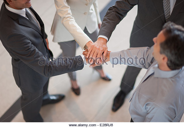 Business Holding Hands