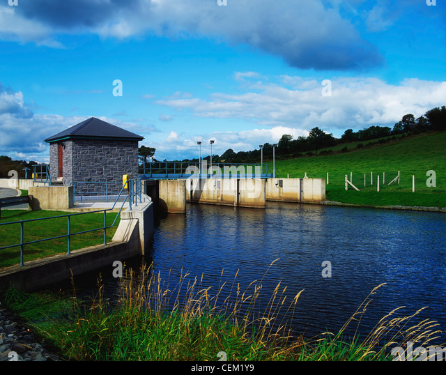 Raised Water Level Of Lough Muckno, Co Monaghan, Ireland - Stock Image