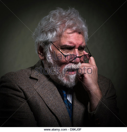 Man feeling anxious - Stock Image