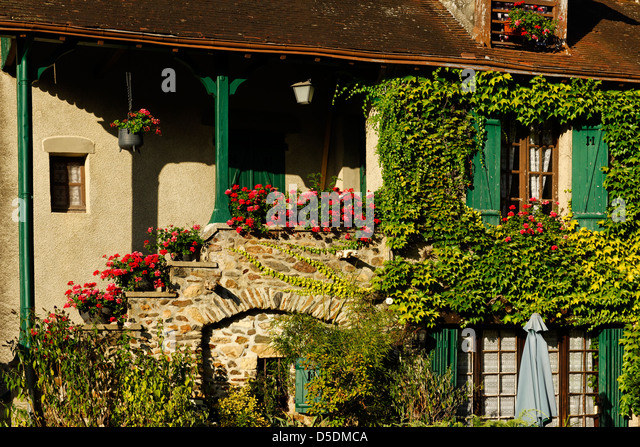 House in the village of Gargilesse, Indre, France - Stock Image