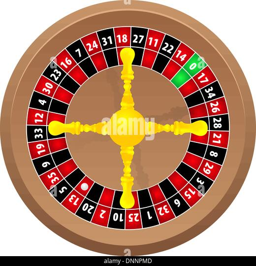 roulette casino online on white background, vector - Stock Image