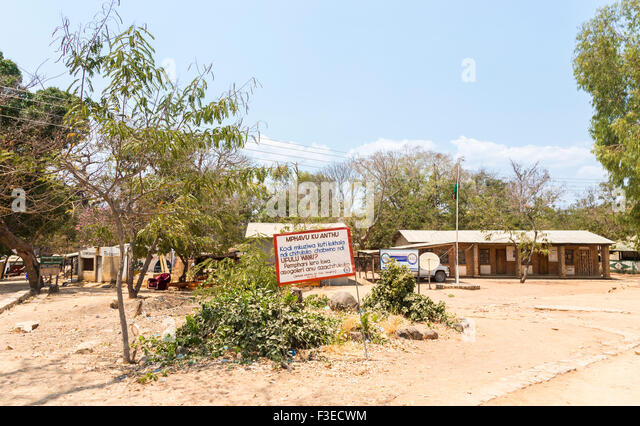 African educational establishment: sign for the National Initiative for Civic Education (NICE), Likoma Island, Lake - Stock Image