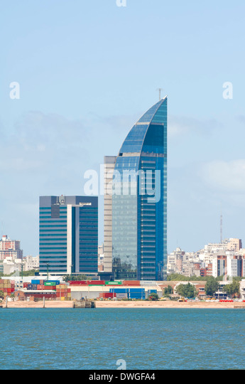 Skyline, Montevideo - Stock Image
