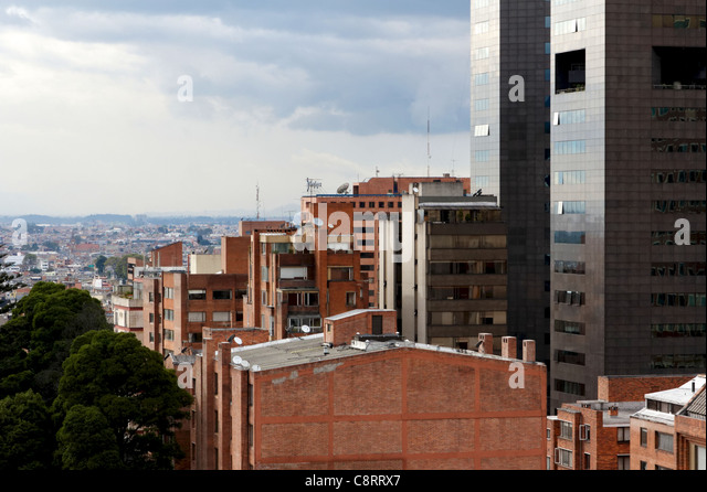 Impressions of Bogota, Colombia, from a rooftop perch - Stock Image