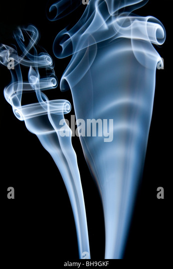 Swirls of smoke - Stock Image