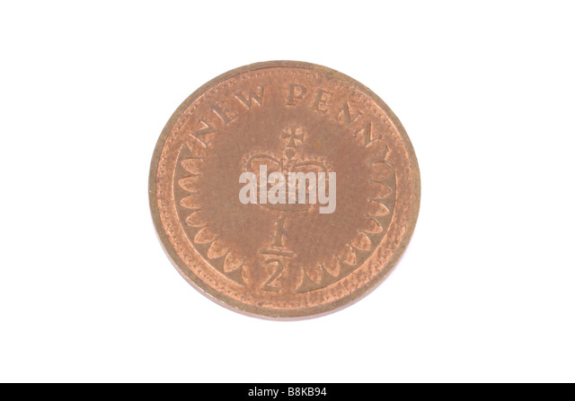 A half penny coin English coin. - Stock Image