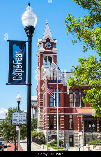 North Carolina NC Wilmington North 3rd Street historic district New Hanover County Courthouse exterior Alfred Eichberg - Stock Image