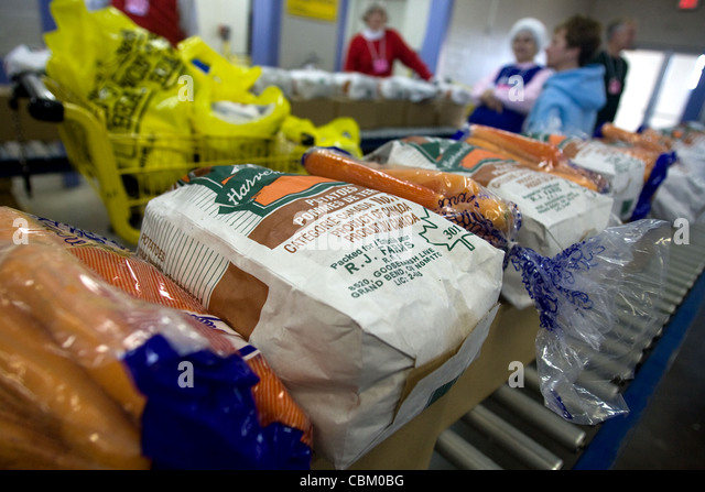 London Ontario, Canada - December 12, 2011. Images from the Salvation Army toy and food hamper drive. - Stock Image