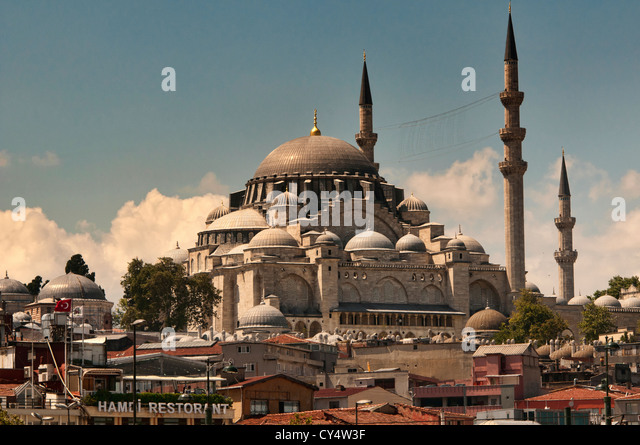 The Rüstem Pasha Mosque in Istanbul, Turkey - Stock Image