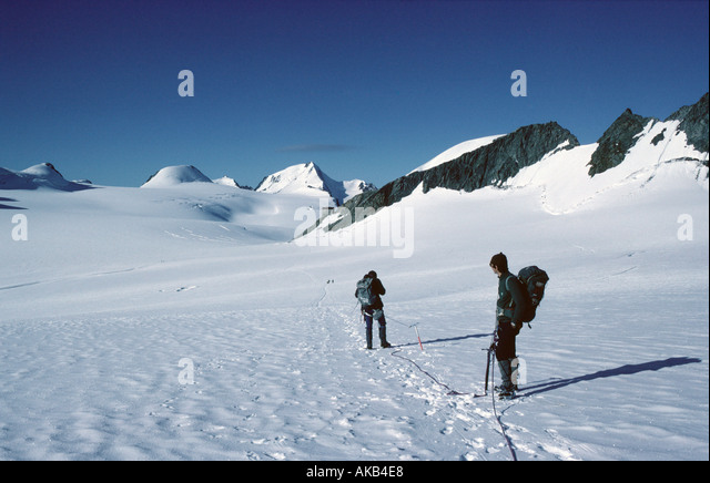On the Kesselwand glacier, Ötztal Alps, Austria - Stock Image