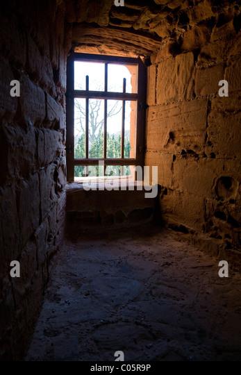 Light through a prison window - Stock Image