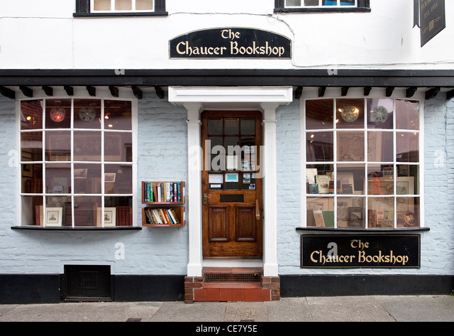 The Chaucer Bookshop Canterbury UK. Old Books and Publications. Collectables - Stock Image