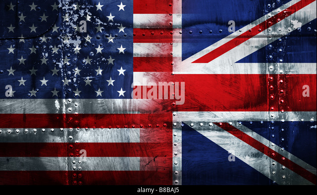UK USA FLAG - Stock Image